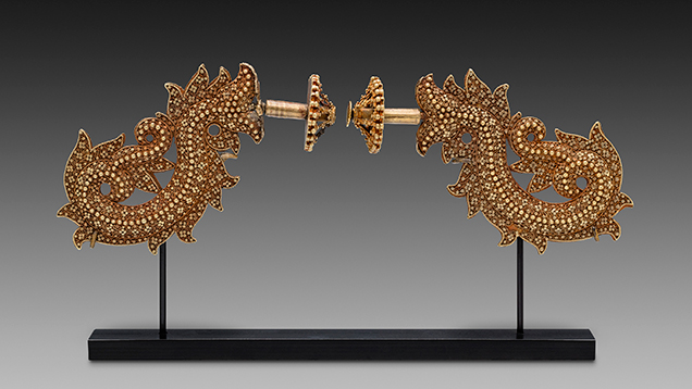 Ear studs (togé) from Indonesia