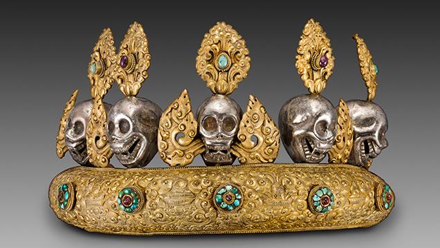 Copper diadem with skulls