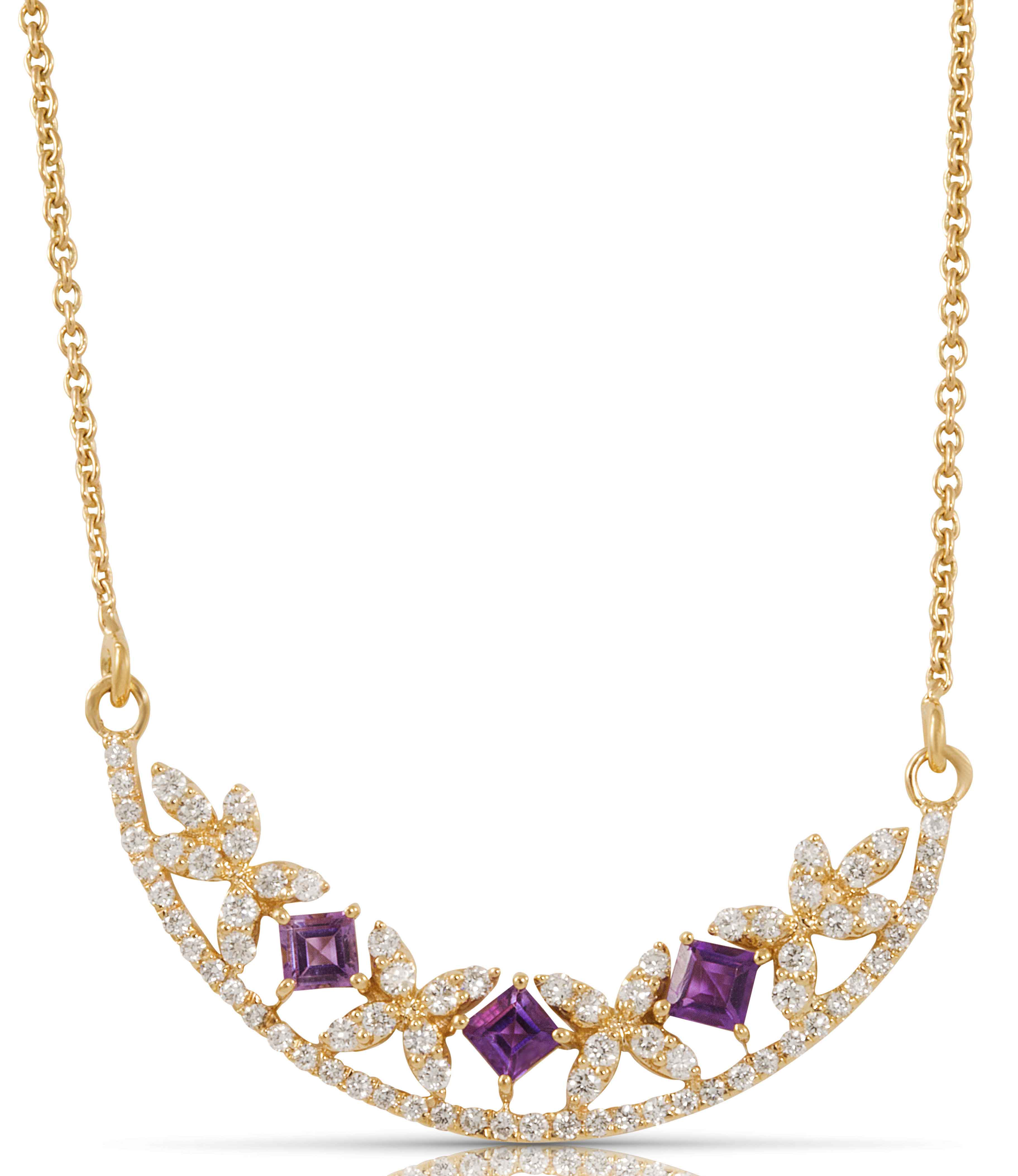 Raina necklace in yellow gold