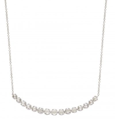 Duet collection necklace in white gold