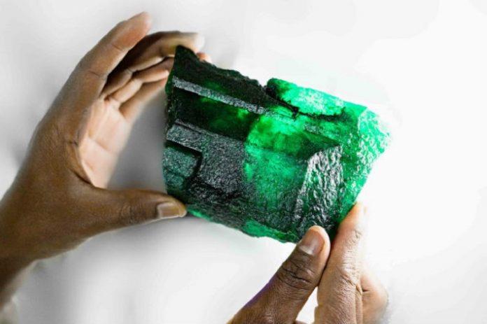 Gemfields unveils 5,655-carat 'Inkalamu' emerald