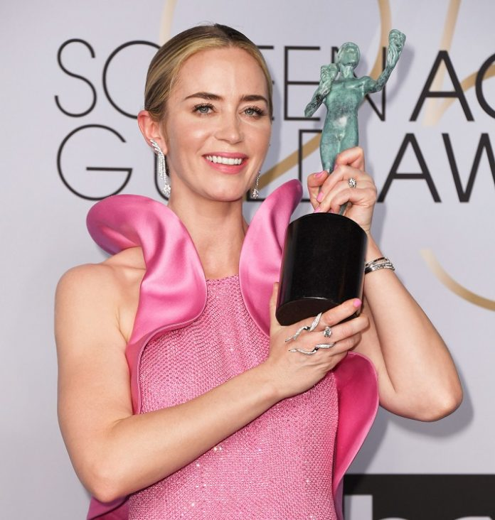 Emily Blunt in Forevermark Diamonds at the 2019 SAG Awards