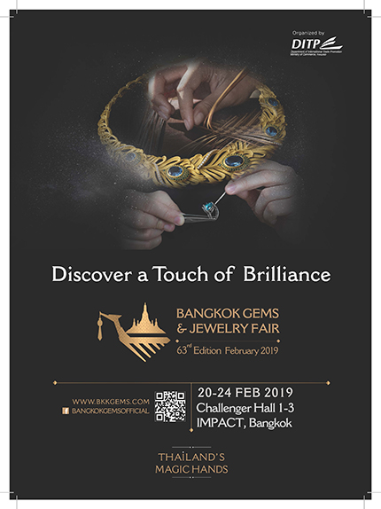 February Bangkok Gems and Jewelry Fair to showcase highly skillful Thai craftsmanship to global audience