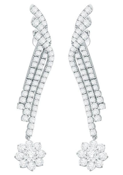 Forevermark Flower Drop Diamond Earrings set
