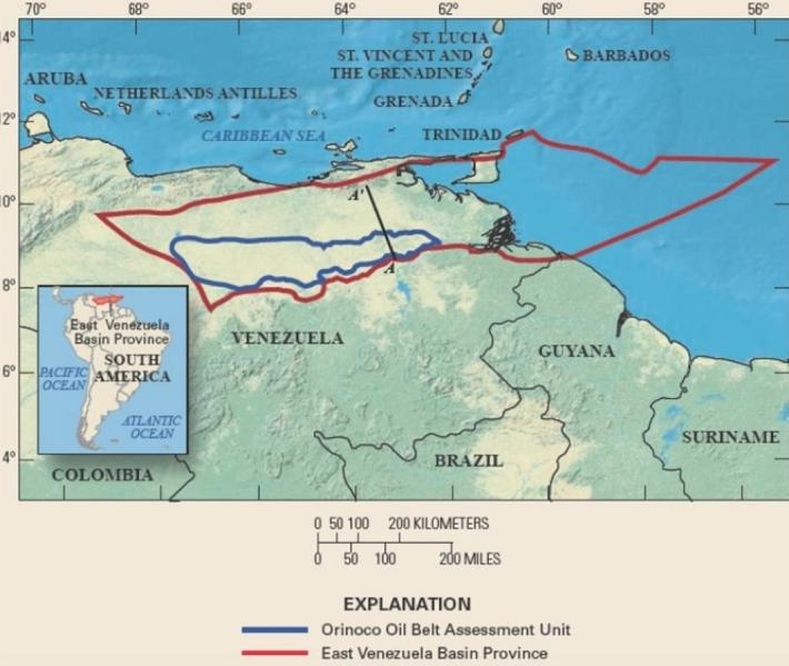 Venezuelas map
