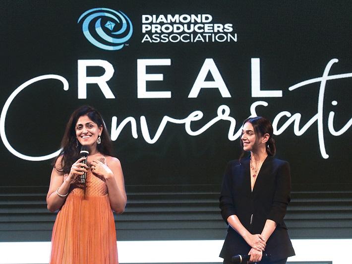 Richa Singh, MD India, DPA and Aditi Rao Hydari, actress.