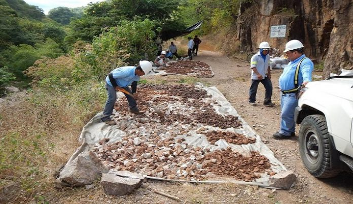condor gold la india bulk sampling