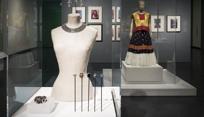 """A choker, bracelet and brooches from the show """"Frida Kahlo: Appearances Can Be Deceiving."""