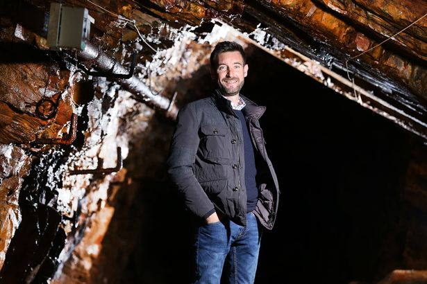 Ben Roberts inside the gold mine near Dolgellau It is owned by Clogau Gold Picture Lor