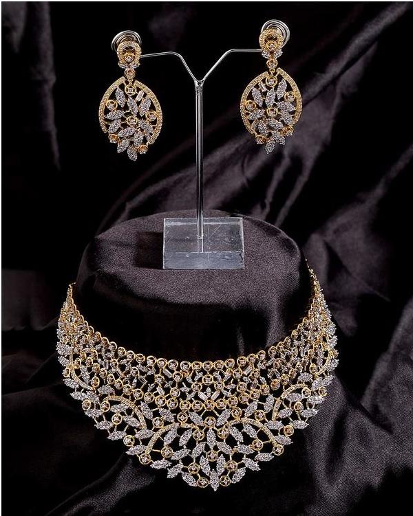 cz stone bridal jewellery