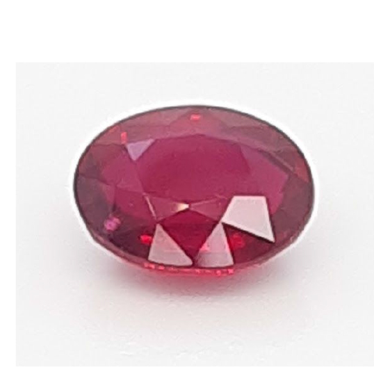 Ruby oval unheated 4.09ct from Mozambique