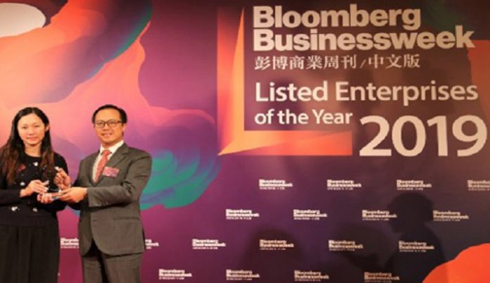 Chow Tai Fook Receives Three Prestigious Accolades at Bloomberg's Listed Enterprises of the Year 2019