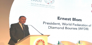 WFDB President Ernie Blom addressing the 2019 CIBJO Congress in Bahrain.