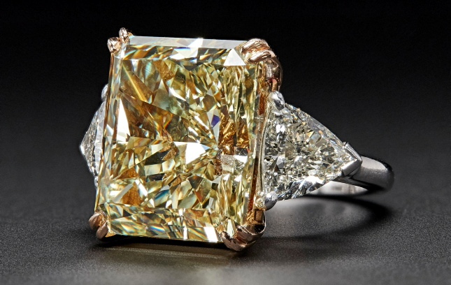 23-ct Fancy Yellow Diamond Ring Fetches $325,000