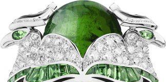 Boucheron ring set with tourmalines, tsavorites and diamonds