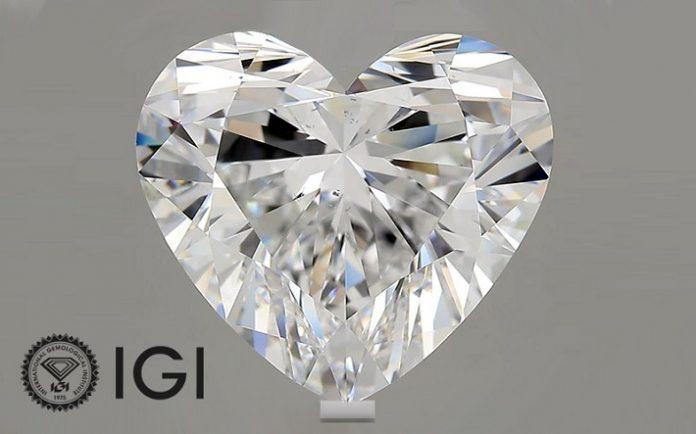 IGI Certifies 10 carat Heart Shaped Lab Grown Diamond