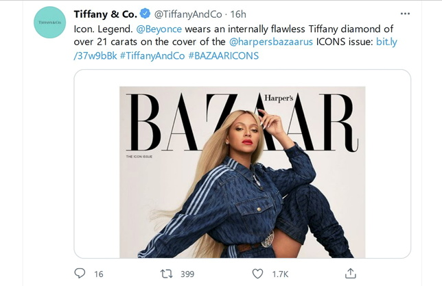 Beyonce is Another New Face of Tiffany & Co