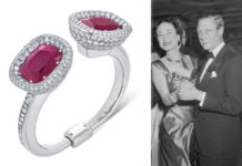 bracelet and the Duke and Duchess of Windsor dancing at a New Year