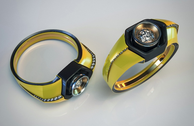 Car Engagement Rings - Made from Catalytic Converters