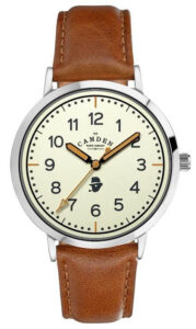 STEEL CASE WITH CREAM DIAL AND TAN LEATHER STRAP